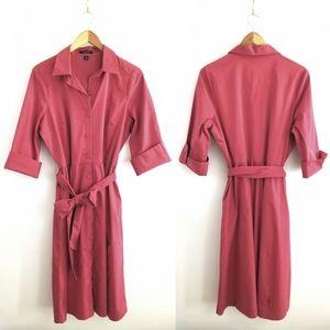 4 for $25-- Lands End Poplin Midi Shirt Dress